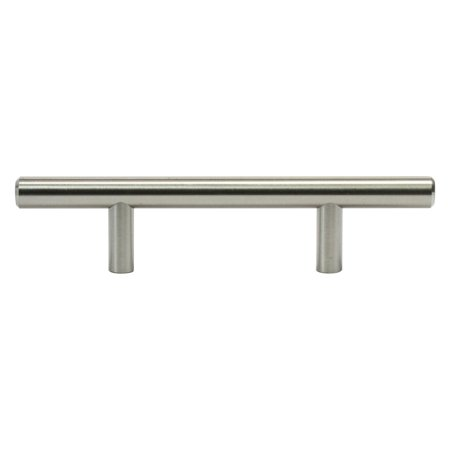 Brushed Nickel 3' Pull - 20 Pack Metal Bar Pull, Brushed Nickel, 3