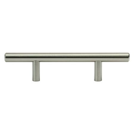 20 Pack Metal Bar Pull, Brushed Nickel, 3