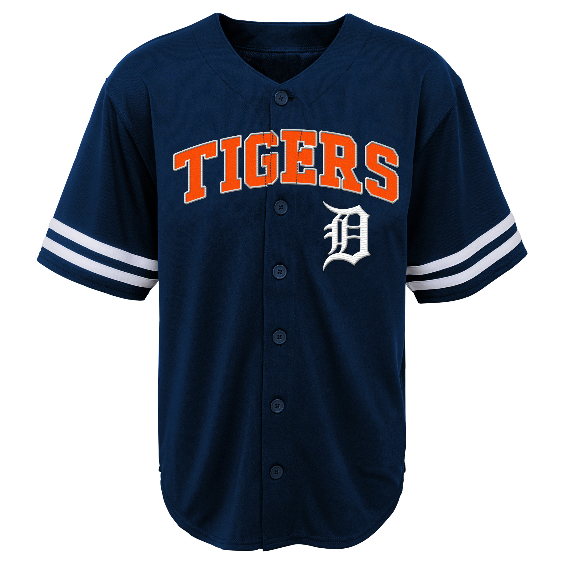 MLB Detroit TIGERS TEE Short Sleeve Boys Fashion Jersey Tee 60% Cotton 40% Polyester BLACK Team Tee 4-18