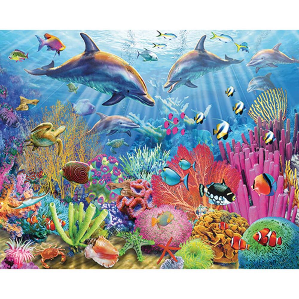 White Mountain Dolphin Coral Reef Jigsaw Puzzle