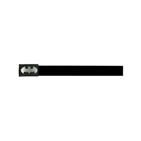 Batman DC Comics Superhero Metallic Silver Shield Logo Web Belt
