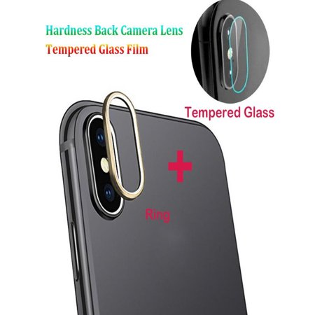 brand new ee373 1c926 For iPhone XS Max 9H Back Camera Lens Ring +Tempered Glass Film Protector  Cover