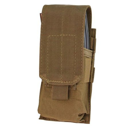 Single 5.56 Modular Magazine Mag Pouch - Coyote - MA5-498 - New, Condor Single 5.56 Mag Pouch By CONDOR from USA ()