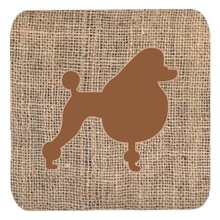 Poodle Burlap and Brown Foam Coasters, Set - 4 - image 1 de 1