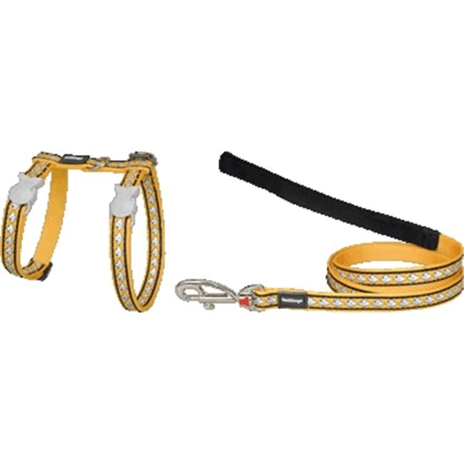 Red Dingo CH-RF-YE-SM Cat Harness & Lead Combo Reflective Yellow