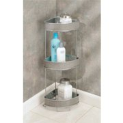 Interdesign Twillo Free Standing Bathroom Corner Storage Shelves For Towels Soap Candles Tissues