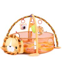 Costway 3 in 1 Cartoon Lion Baby Infant Activity Gym Play Mat w Hanging Toys Ocean Ball