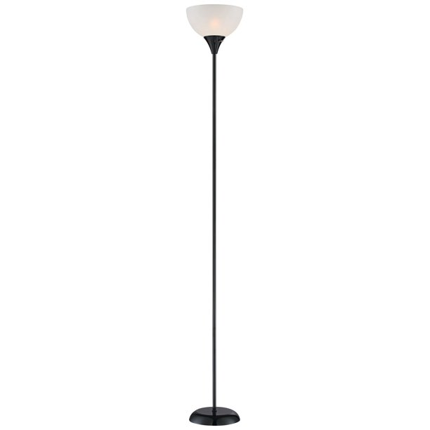 360 Lighting Modern Torchiere Up Light, Skinny Floor Lamp With Shade
