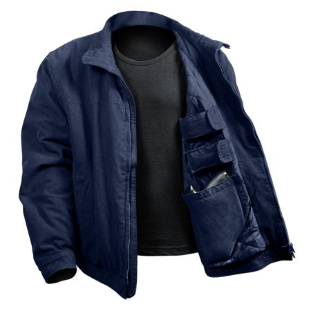 3 Season Concealed Carry Jacket, Navy Blue, Large