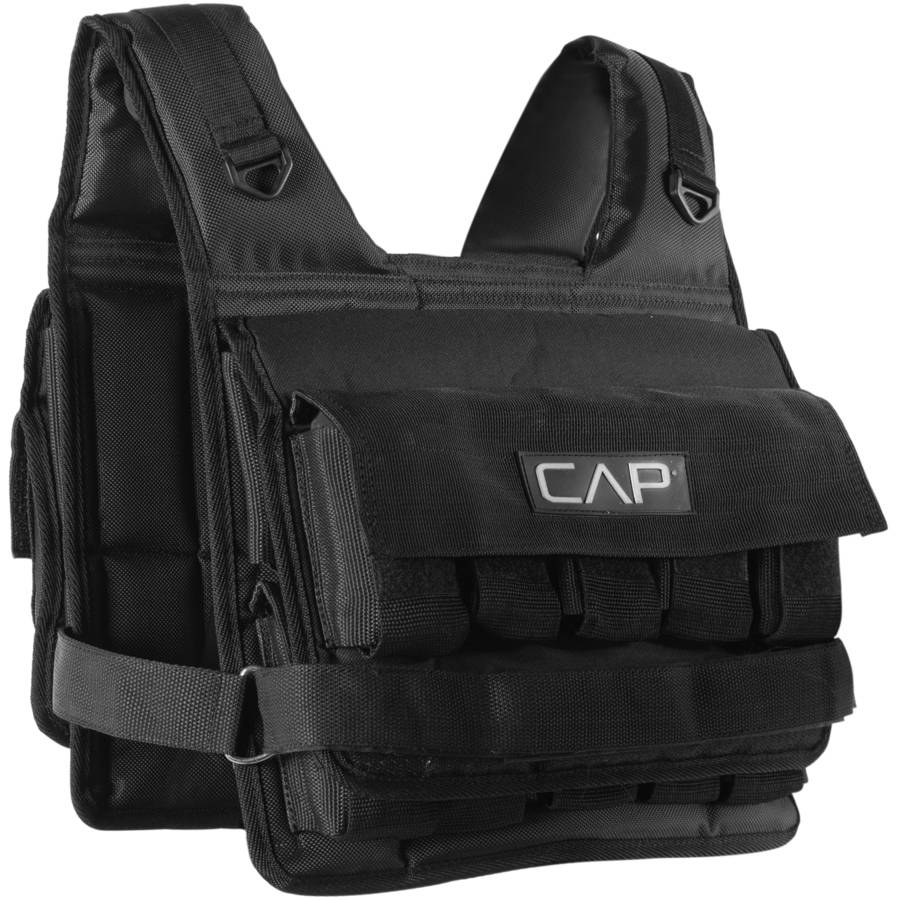 CAP Barbell Short Adjustable Weighted Vest, 50 lb