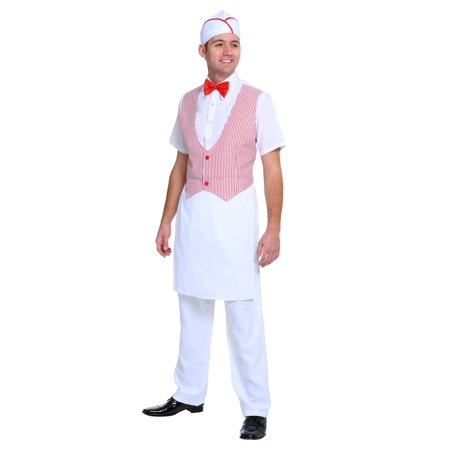 Men's 50s Car Hop Costume (50's Car Hop Waitress Costume)