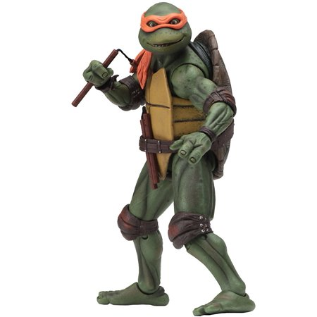 Teenage Mutant Ninja Turtles 1990 Movie Michelangelo Action Figure - Michelangelo Nunchucks Toy