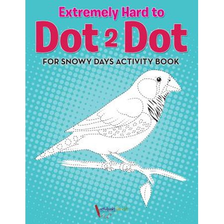 Extremely Hard to Dot 2 Dot for Snowy Days Activity Book - Halloween Connect The Dots Hard