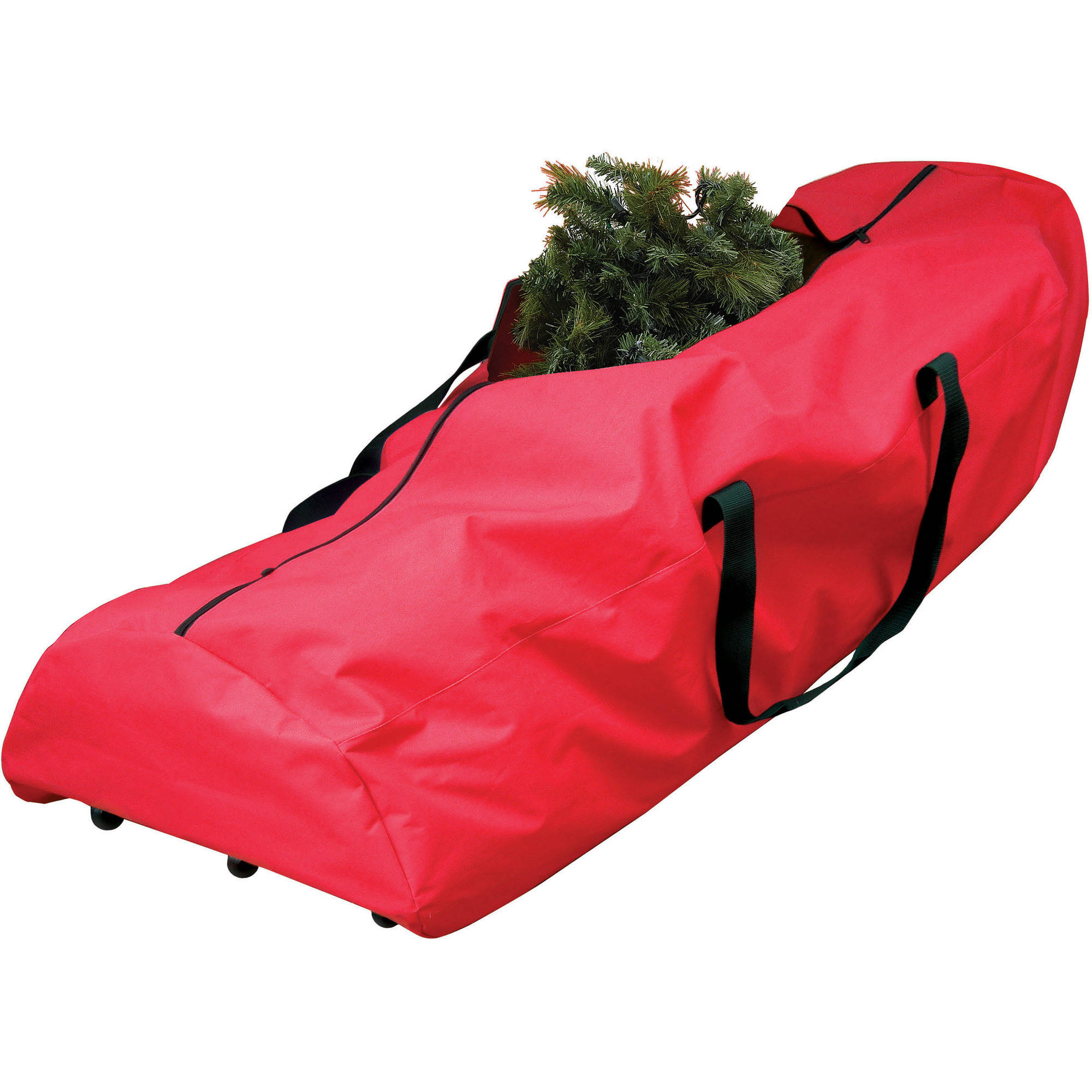 Holiday Time Artificial Christmas Trees 7.5' Artificial Tree Rolling Storage Bag, Red