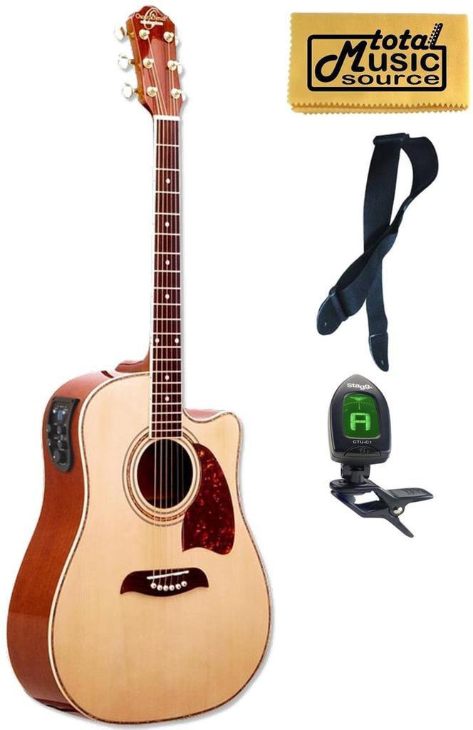 OG2CE Oscar Schmidt Acoustic Electric Guitar, Washburn, Dreadnought, Tuner, 4 EQ, OG2CE... by Oscar Schmidt