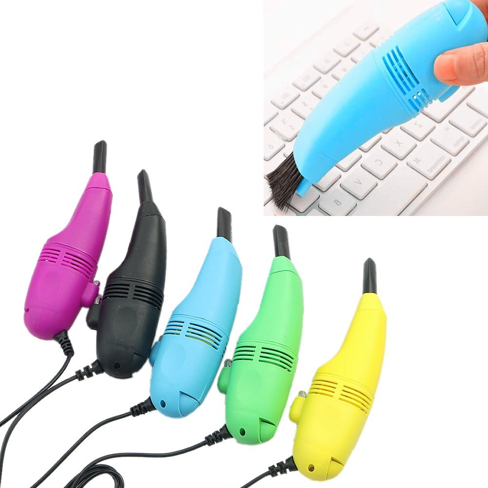 VBESTLIFE 5 Colors Mini USB Keyboard Vacuum Cleaner With Brush Dust Cleaning Kit For PC Laptop Notebook,  Keyboard Dust Cleaning Kit,Keyboard Cleaner