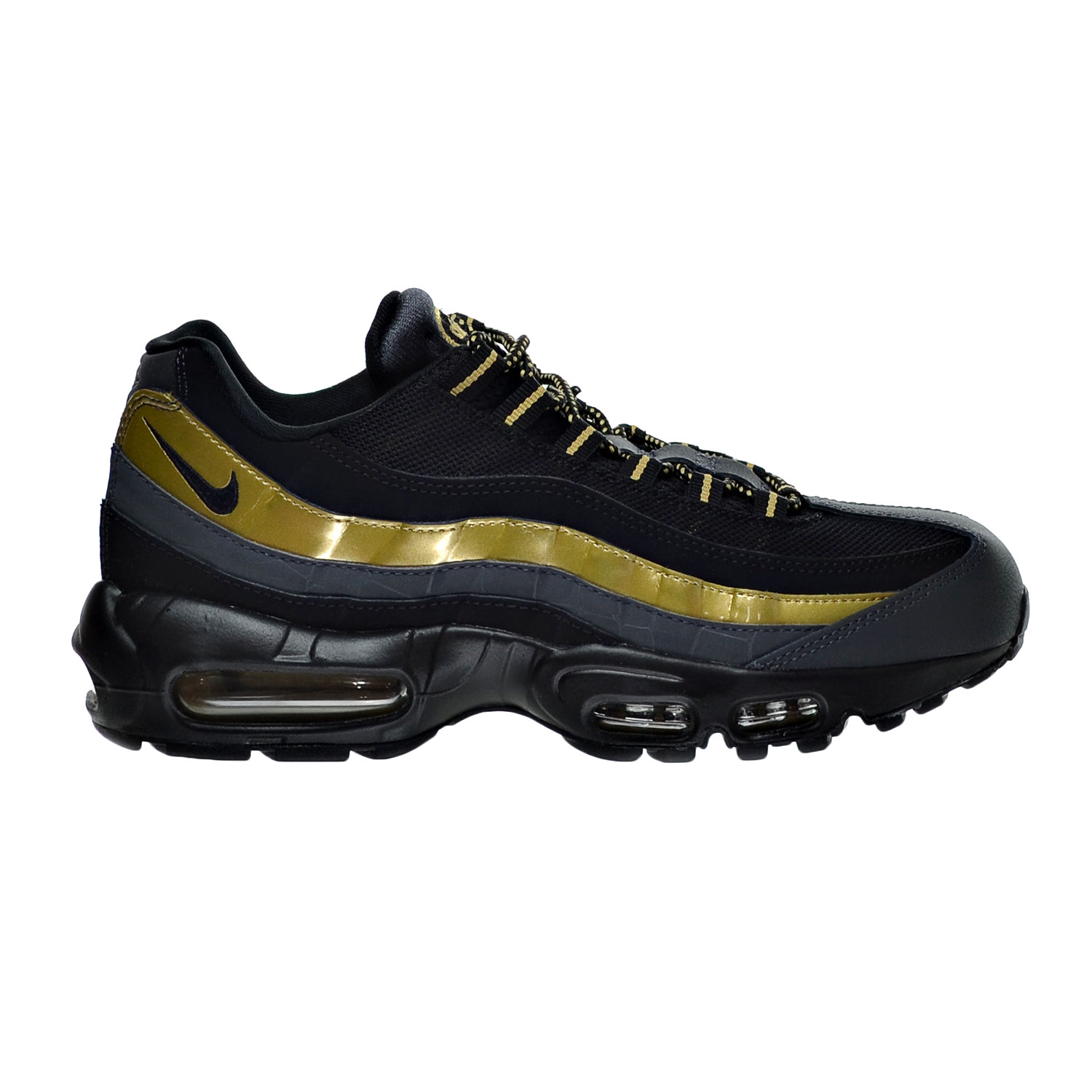 new product e7c90 ff0ce ... coupon nike nike air max 95 prm mens shoes black metallic gold  anthracite 538416 007 walmart ...