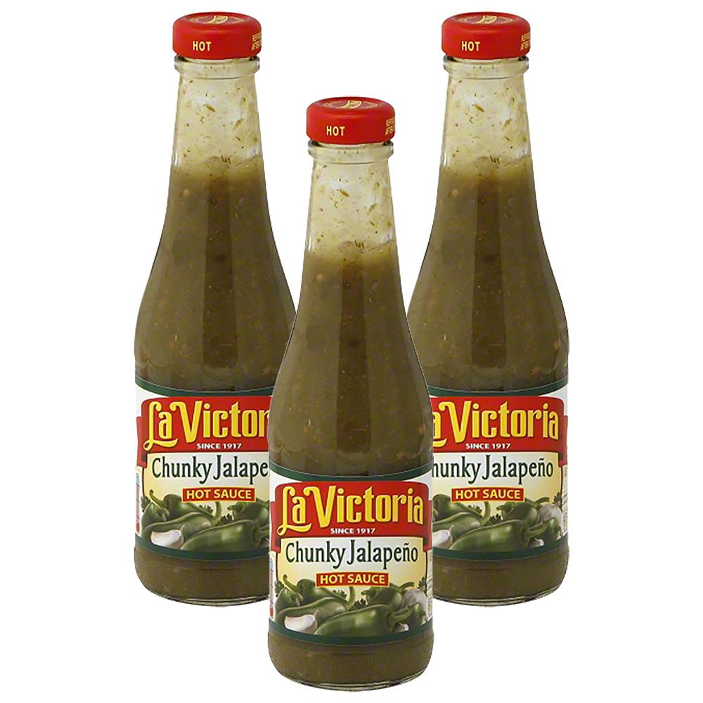 (2 Pack) La Victoria Hot Chunky Jalapeno Hot Sauce 12 oz. Bottle