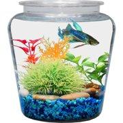 Hawkeye 1-Gallon Fish Bowl, Vase Shaped, Shatterproof Plastic
