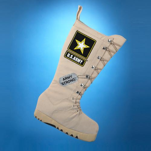 "19"" U.S. Army Soldier Khaki Combat Boot Christmas Stocking"
