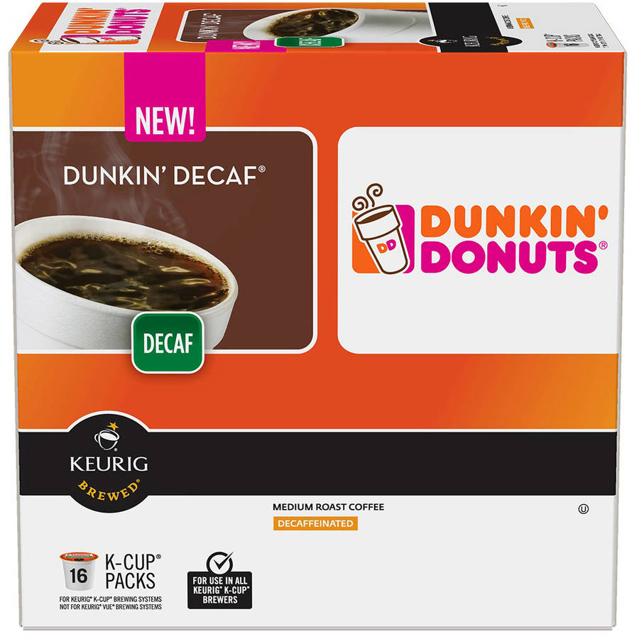 Dunkin' Donuts Dunkin' Decaf Coffee K-Cups, 16 count