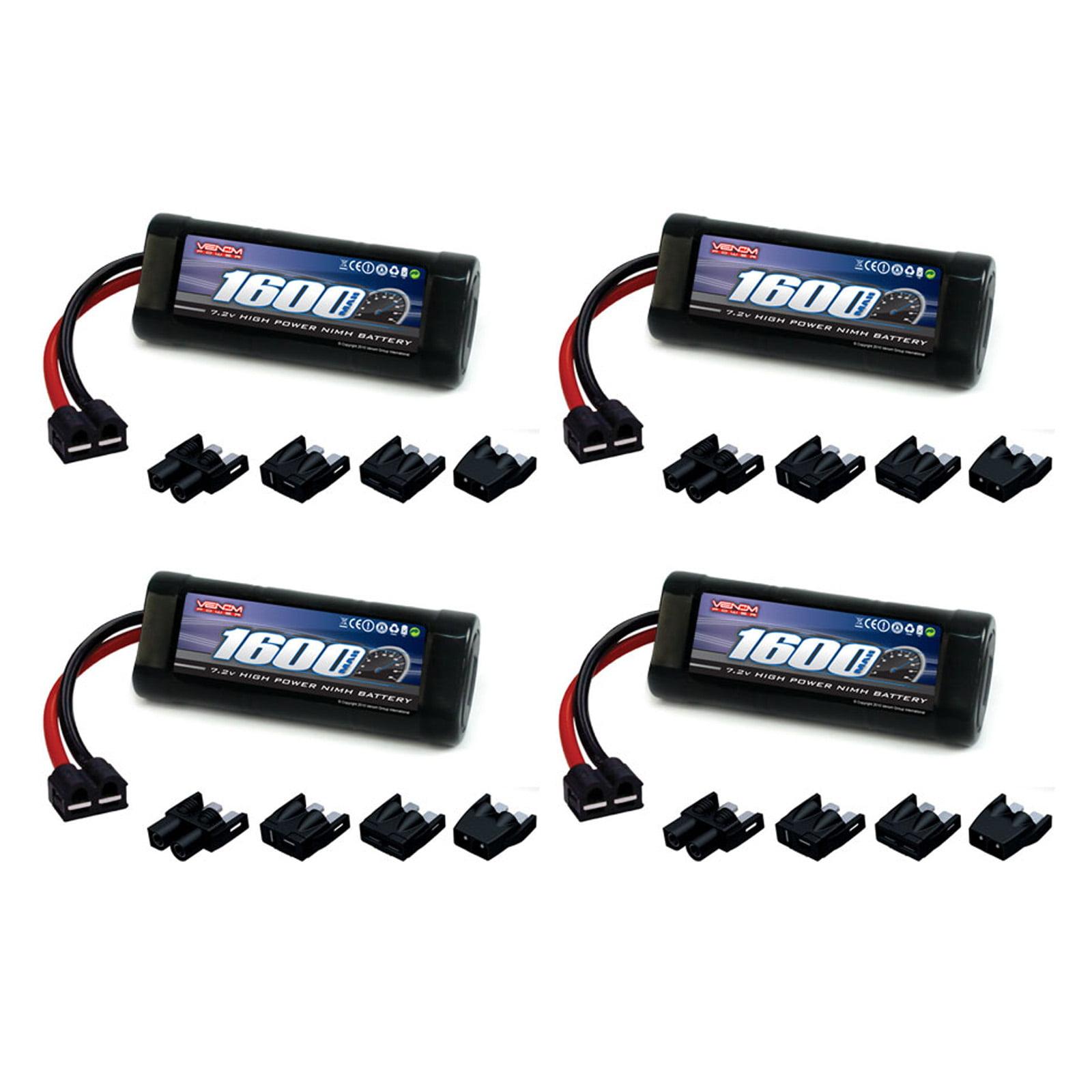Venom 7.2V 1600mAh 6-Cell NiMH Battery with Universal Plug (EC3/Deans/Traxxas/Tamiya) x4 Packs