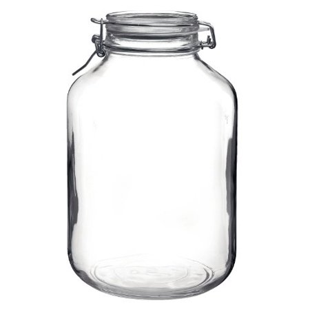 Clear Round Round Bottle - Bormioli Rocco Fido Round Clear Jar, 169-Ounce
