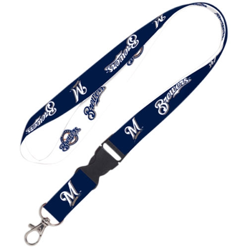 Milwaukee Brewers WinCraft Lanyard with Detachable Buckle - No Size