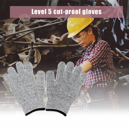 One Pair/Set Durable Use Working Safety Gloves Cut-Resistant Anti Abrasion Level 5 Kitchen Cutting Anti Cut Gloves - image 5 of 7