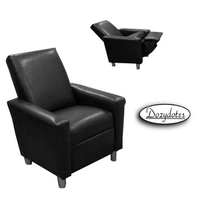 Dozydotes 12049 Modern Black Leather Like Fabric Recliner