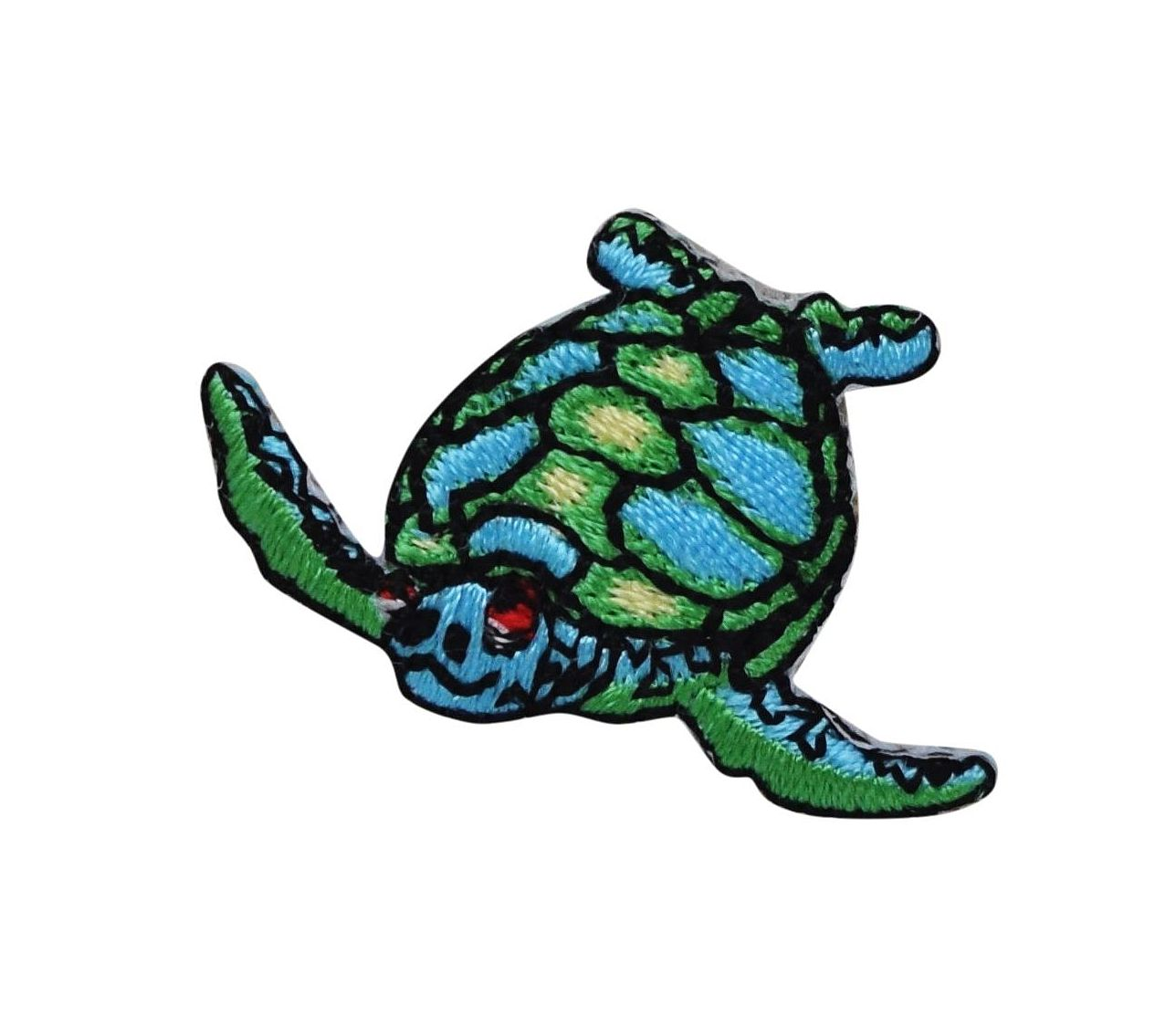 Turtle Reptile Painted Embroidered Iron On Patch Nature