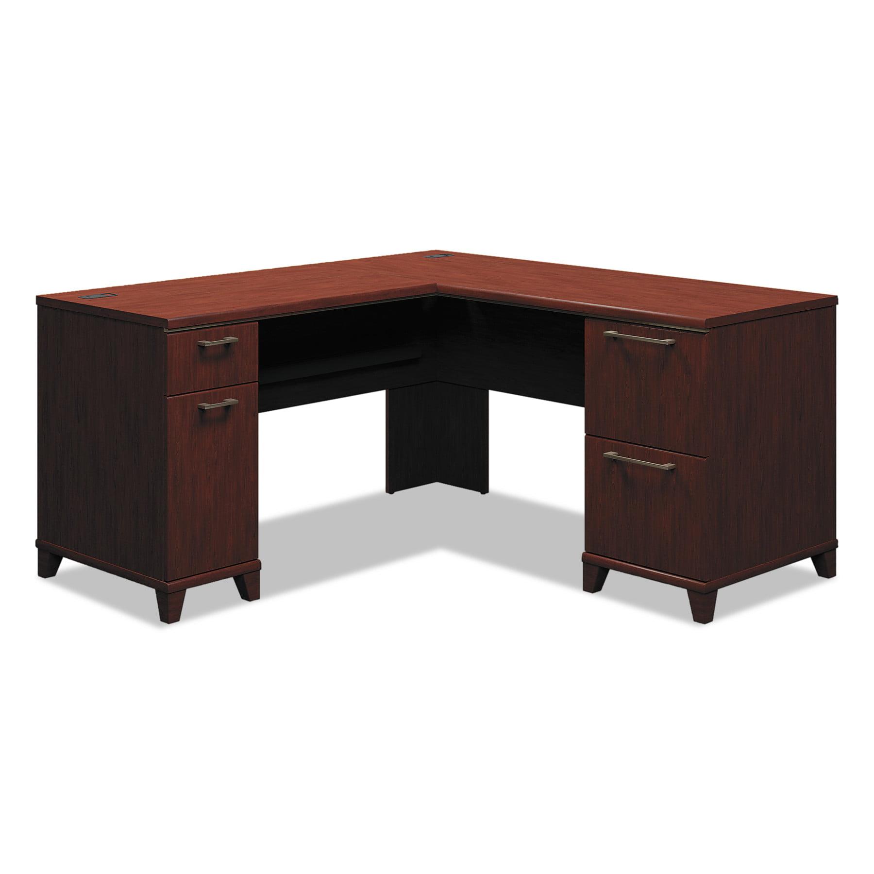 Bush Enterprise Collection 60W x 60D L-Desk, Harvest Cherry (Box 2 of 2) by Bush Industries