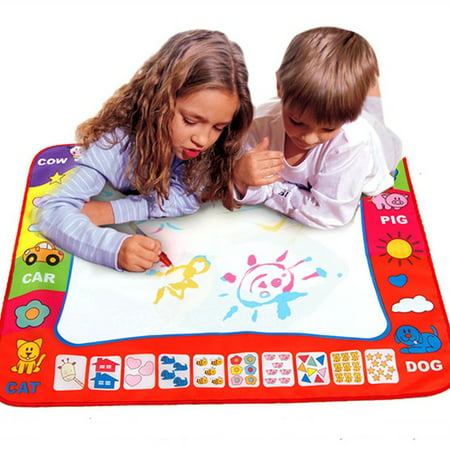 Aquadoodle Mat - Kids Water Painting Mat,Painting Draw Developmental Doodle Board Toy With Magic Pen
