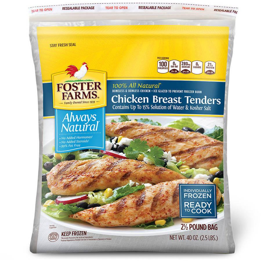 Foster Farms Boneless Skinless Chicken Breast Tenders, 2.5 lb