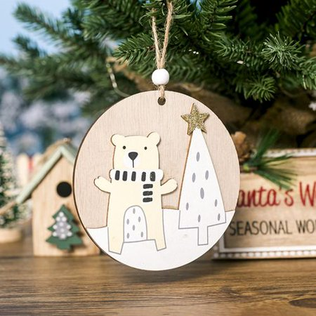 Hanging Christmas Decorations Diy.Michellem Christmas Wooden Decoration Xmas Tree Pendants Hanging Ornaments Diy Christmas Home Party Decor