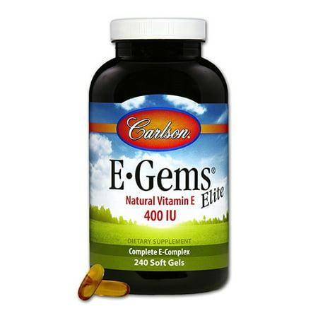 E-gems Elite Natural Vitamin - Carlson E-Gems Elite Natural Vitamin E Softgels, 240 Ct