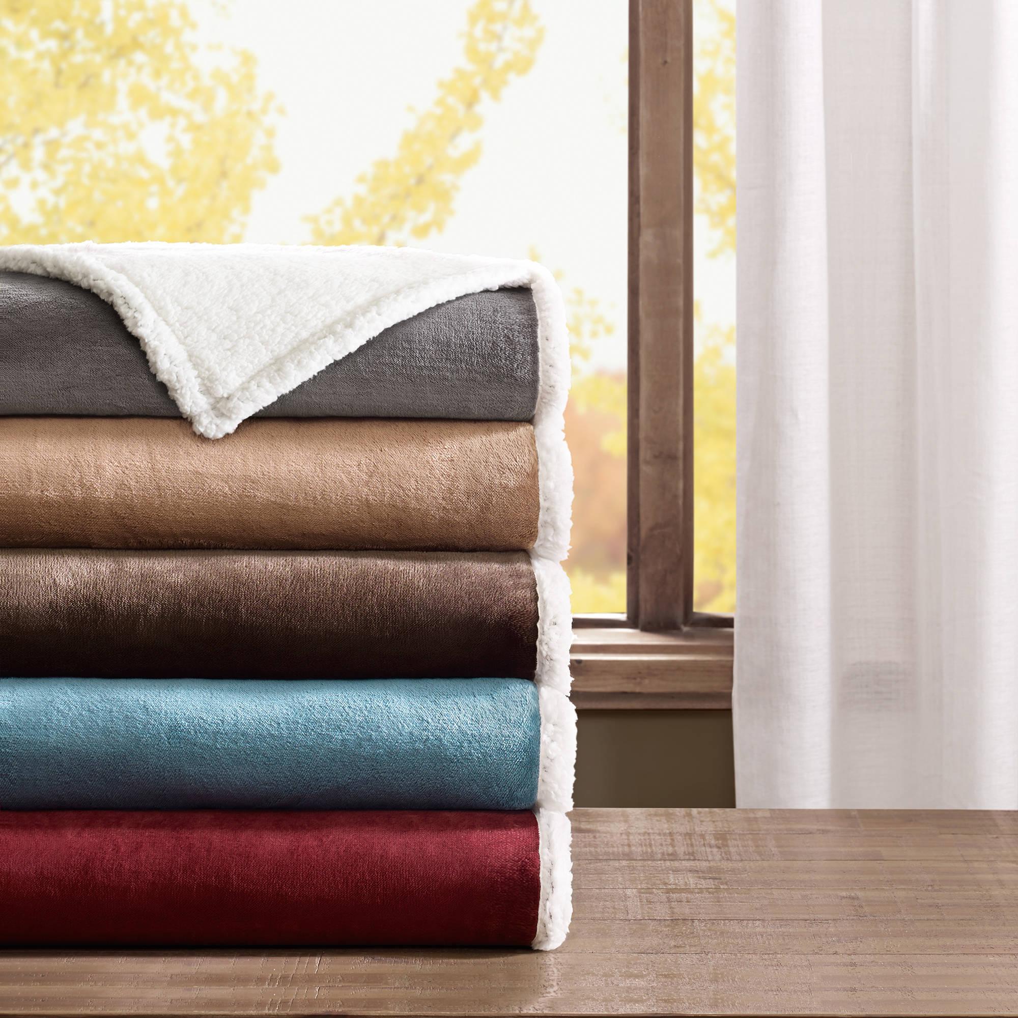 Home Essence Microlight Plush to Berber Ultra Soft Blanket