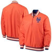 New York Mets G-III Sports by Carl Banks Starter Jet Game Half-Zip Pullover Jacket - Orange