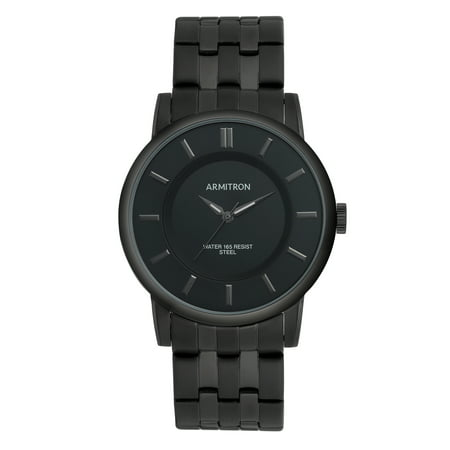 Armitron Men's Black IP Plated Stainless Steel -