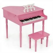 Clevr My First Keys Kids Piano Keyboard Wood Boys Girls Black/Pink 25/30 keys