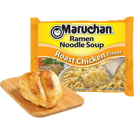 - (24 Packs) Maruchan Roast Chicken Instant Ramen, 3 oz