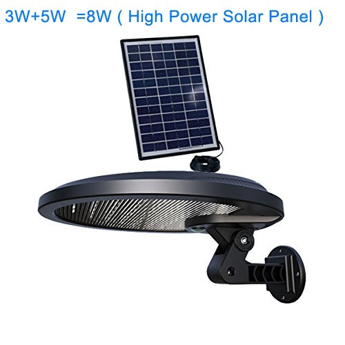 ACMESHINE 56 Led Rotatable Solar LED Motion Light With DC Connector and External 5W Portable Solar Panel Outdoor Solar Powered Light with... by
