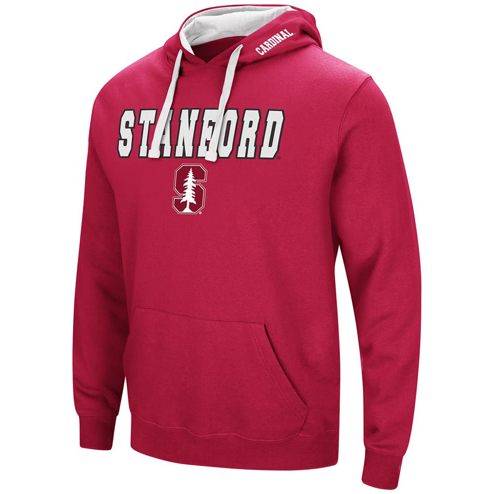 Mens Stanford Cardinal Pull-over Hoodie 2XL by Colosseum