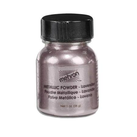 - Mehron Eyeshadow Loose Powder, Lavender Metallic Shimmer Makeup, 1 ounce