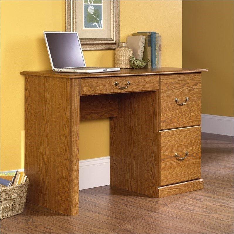 Sauder Orchard Hills Small Wood Computer Desk in Carolina Oak finish