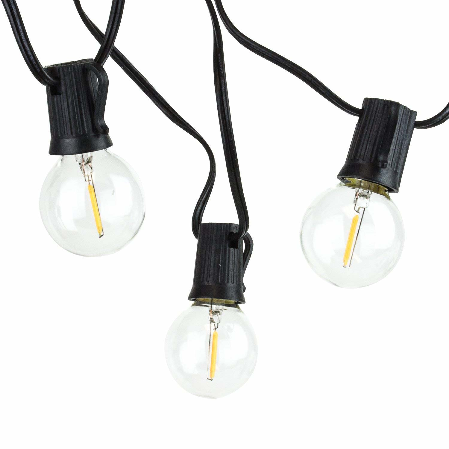Newhouse Lighting Outdoor Globe String Lights, LED, 17-Feet, 10 Light Bulbs Included