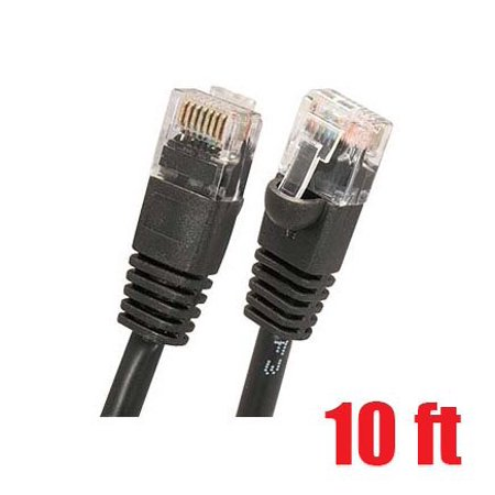 iMBAPrice 10ft Cat-6 Network Ethernet Patch Cable - Black (Cat6) (10 Feet, (Cat6 Black Patch Panel)