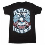 Kings Road Merch KRM-10065173-L Waylon Jennings Lonesome T-Shirt - Black - Large