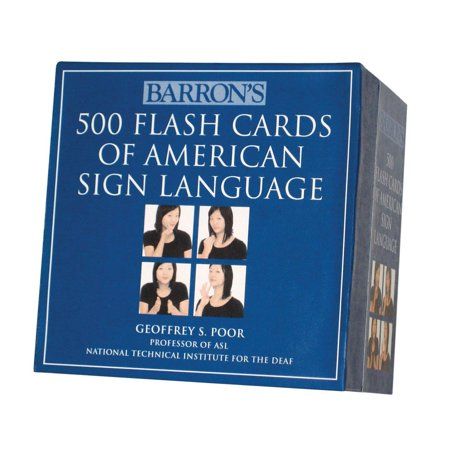 500 Flash Cards of American Sign Language- Boxed Set, Flash Cards show 500 words signed in ASL By Barrons - Asl Halloween Words