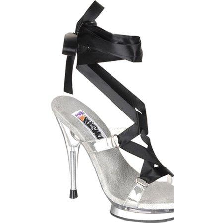 5e2f1c38a62 SummitFashions - 5 1 4 Inch Heel Sexy Shoes Ribbon High Heel Shoes Sandals  Mini Platform Size  7 - Walmart.com